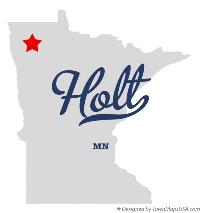 Map of Holt Minnesota MN