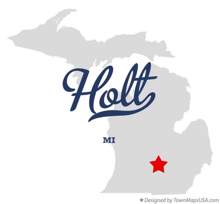 Map of Holt Michigan MI