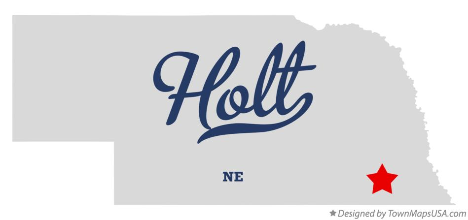 Map of Holt Nebraska NE