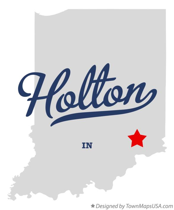 Map of Holton Indiana IN