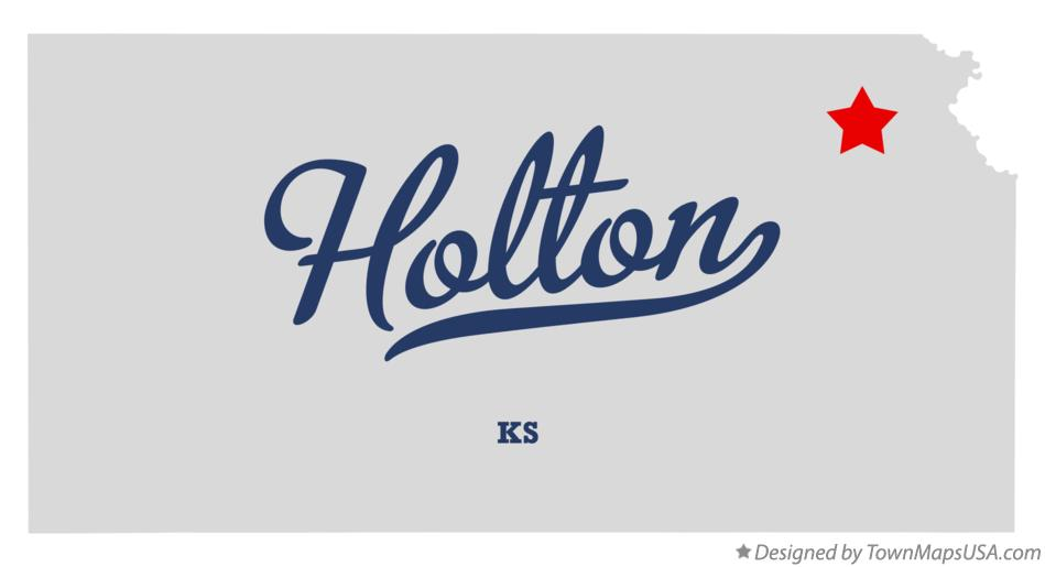 Map of Holton Kansas KS