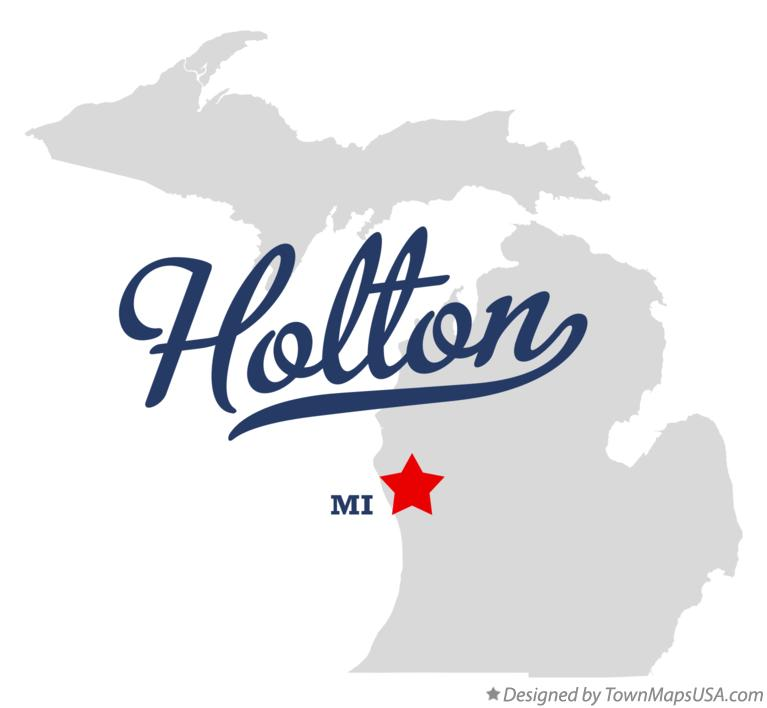 Map of Holton Michigan MI
