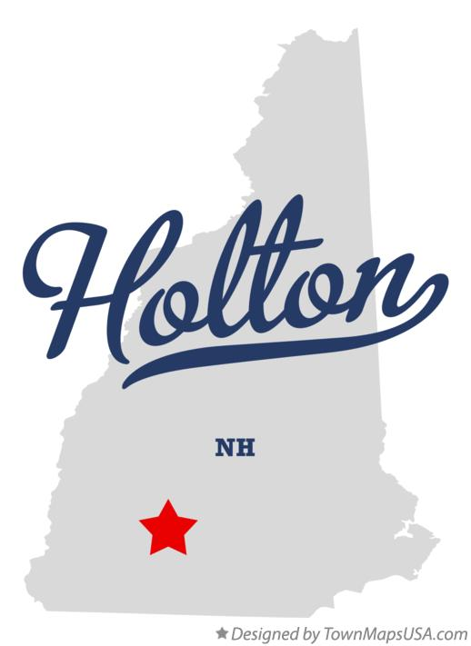 Map of Holton New Hampshire NH