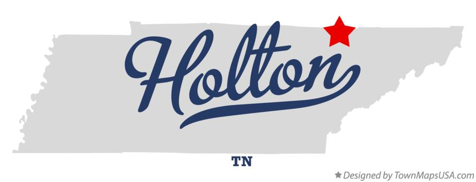 Map of Holton Tennessee TN