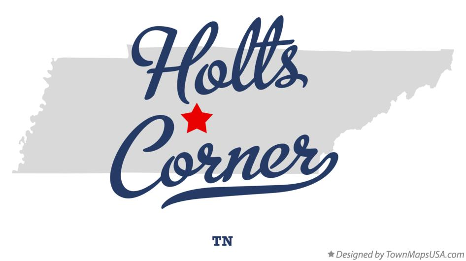 Map of Holts Corner Tennessee TN