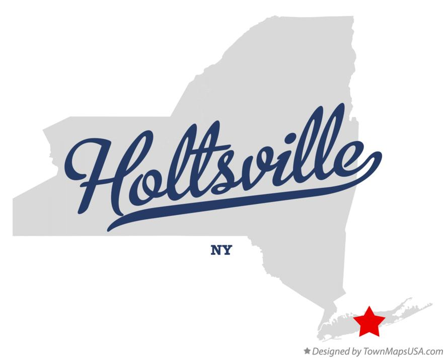 Map of Holtsville New York NY