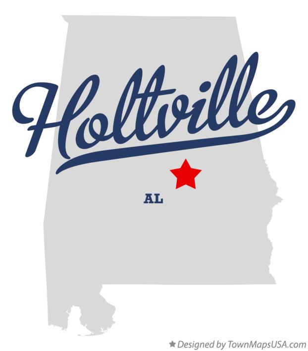 Map of Holtville Alabama AL