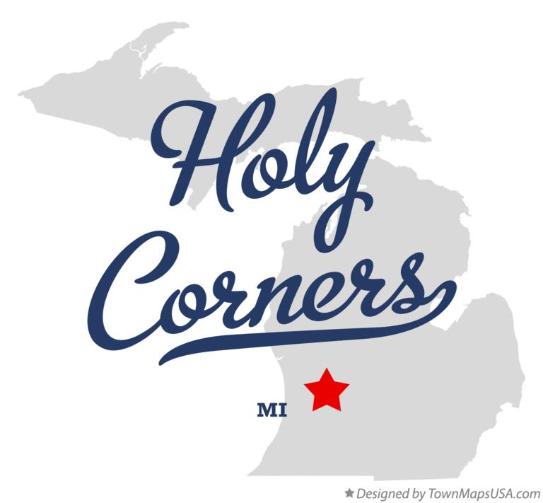 Map of Holy Corners Michigan MI