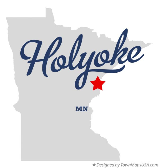 Map of Holyoke Minnesota MN