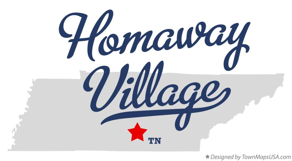 Map of Homaway Village Tennessee TN