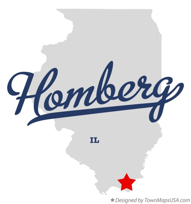 Map of Homberg Illinois IL