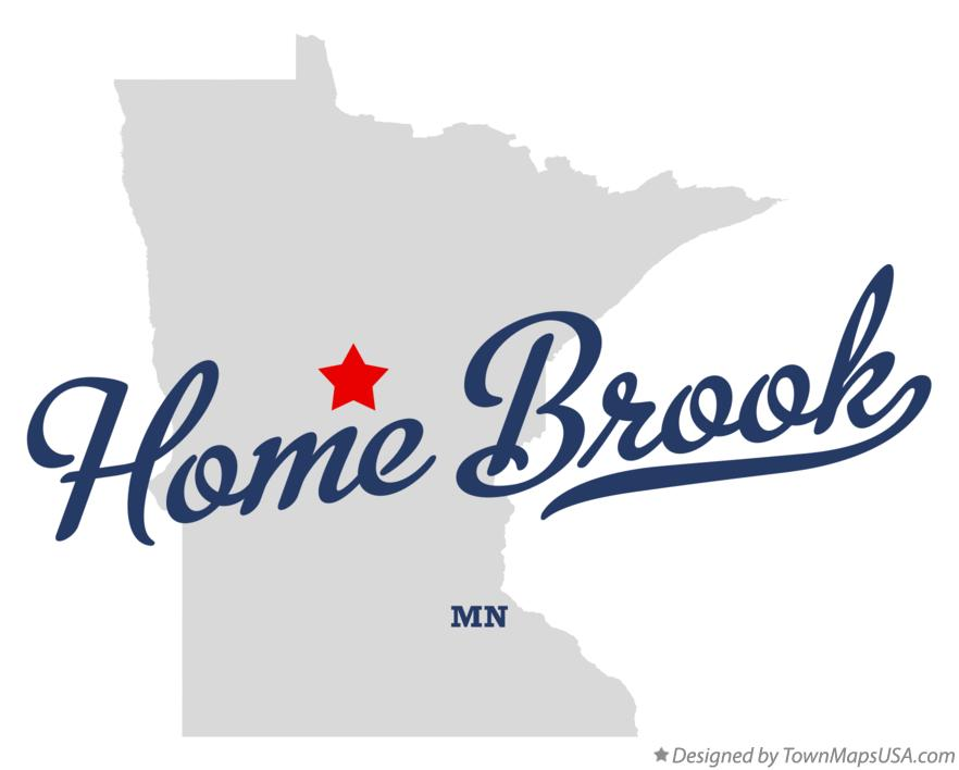 Map of Home Brook Minnesota MN