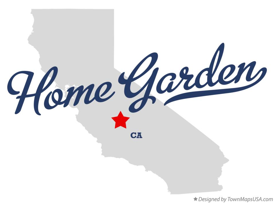 Map of Home Garden California CA