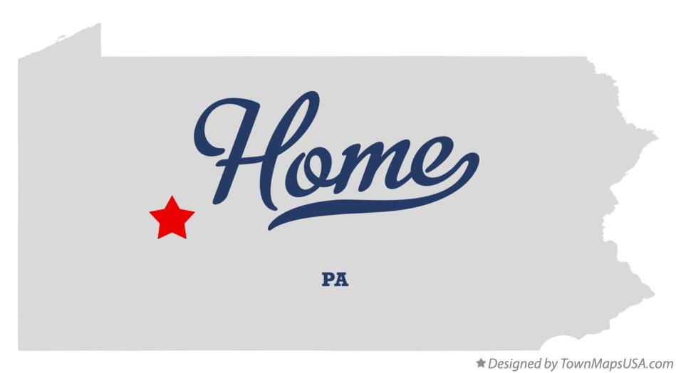 Map of Home Pennsylvania PA