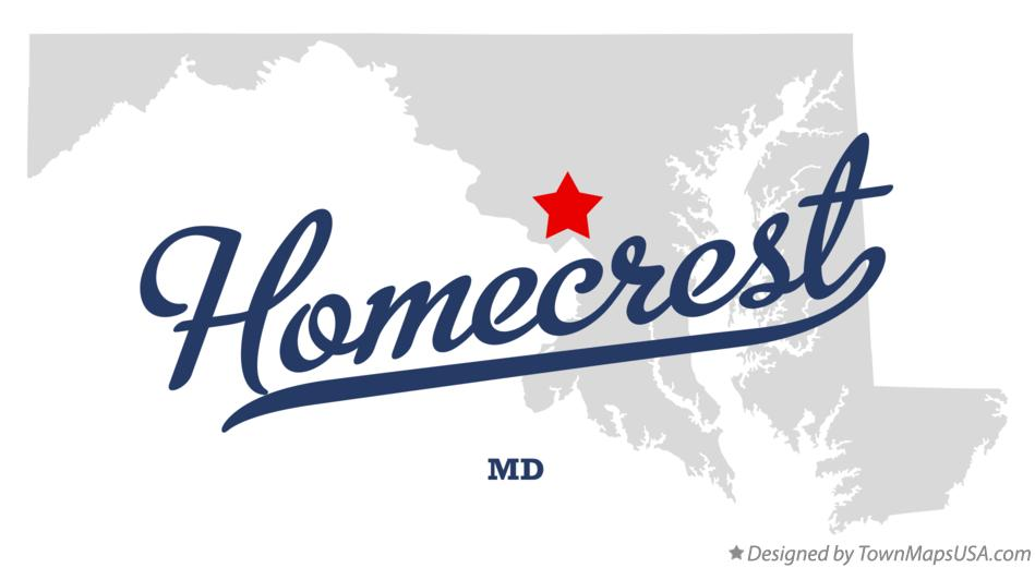Map of Homecrest Maryland MD