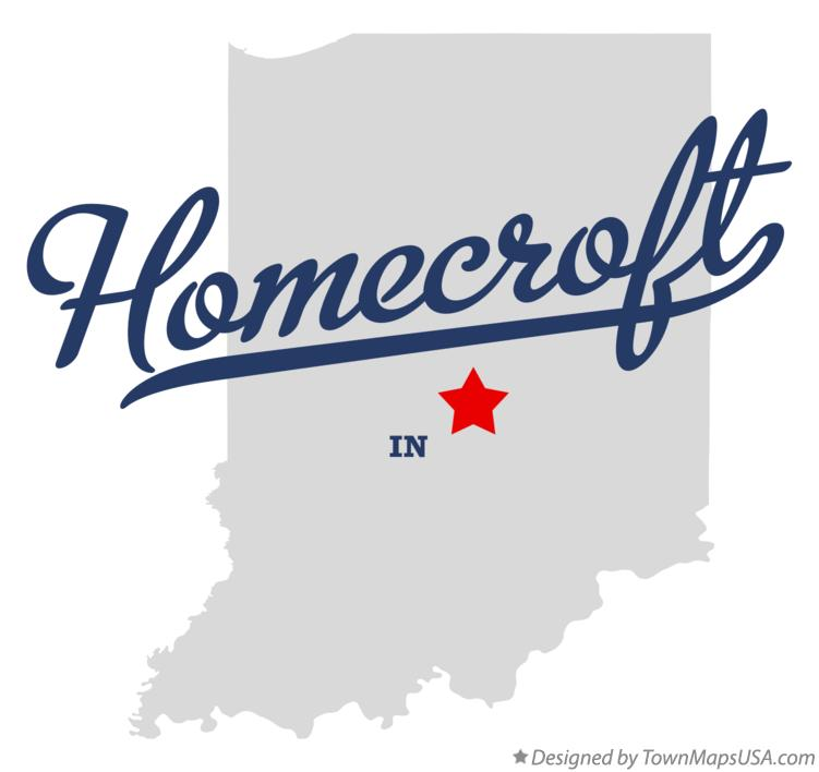 Map of Homecroft Indiana IN