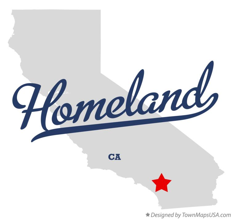 Homeland California Map.Map Of Homeland Ca California