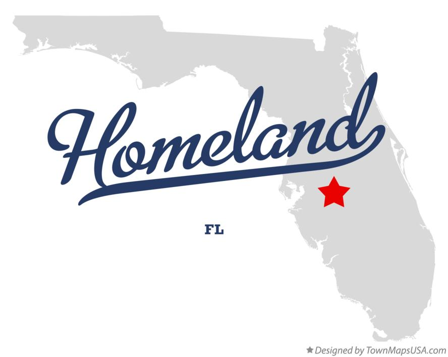 Map of Homeland Florida FL