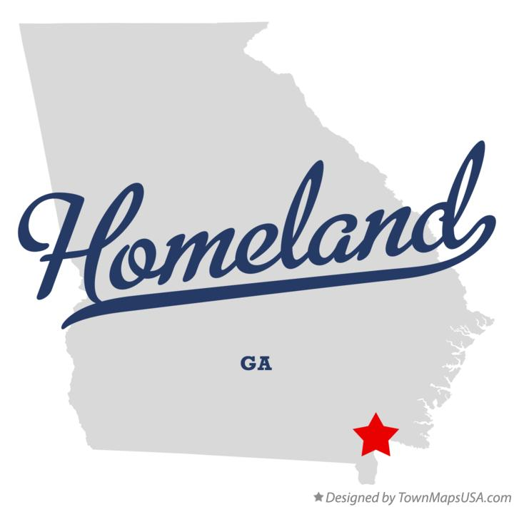 Map of Homeland Georgia GA