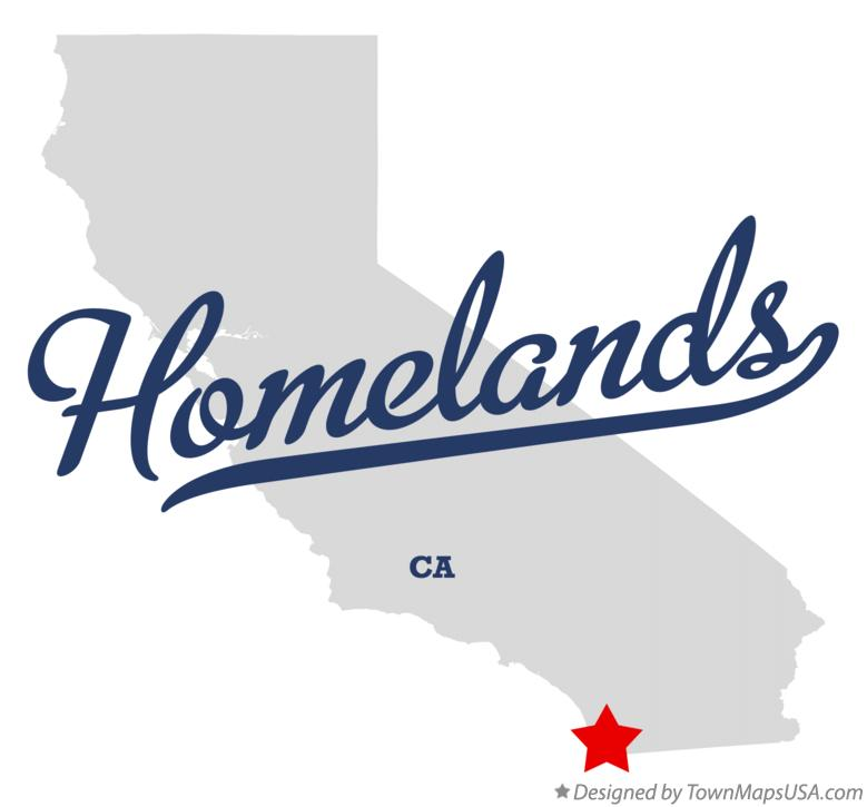 Map of Homelands California CA
