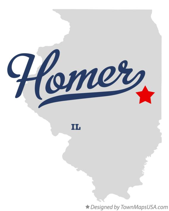 Map of Homer Illinois IL
