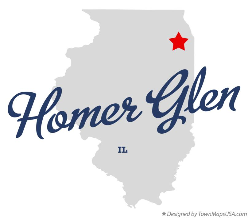 Map of Homer Glen Illinois IL