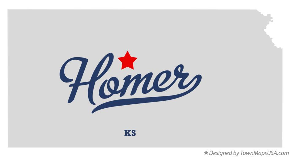 Map of Homer Kansas KS