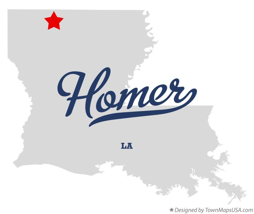Map of Homer Louisiana LA