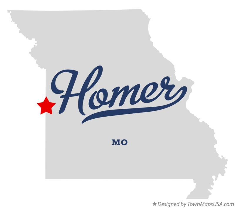 Map of Homer Missouri MO