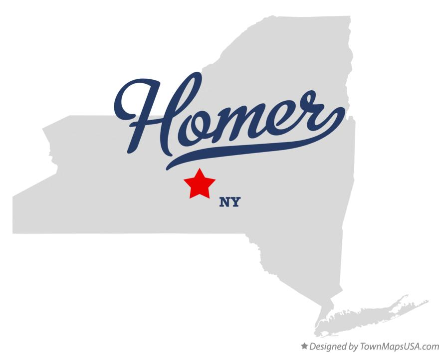 Map of Homer New York NY