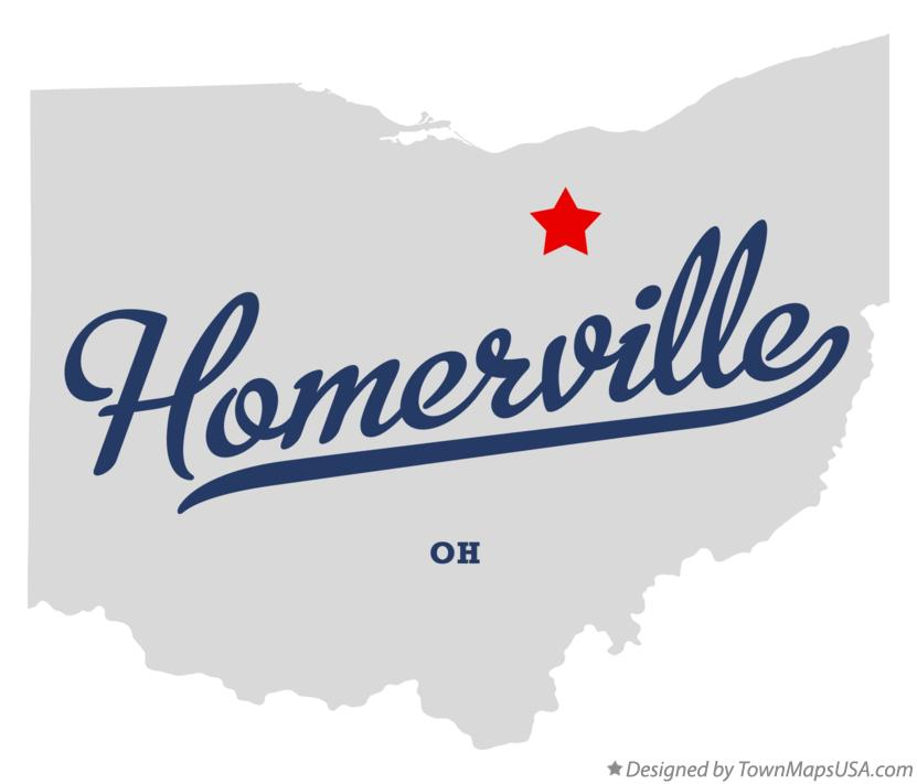 Map of Homerville Ohio OH