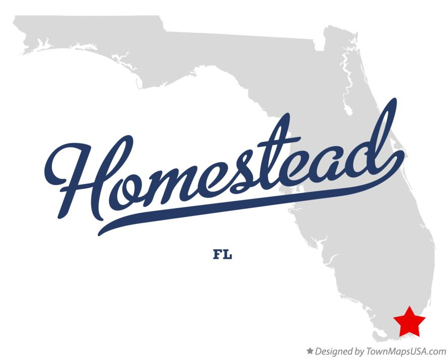 Map of Homestead Florida FL
