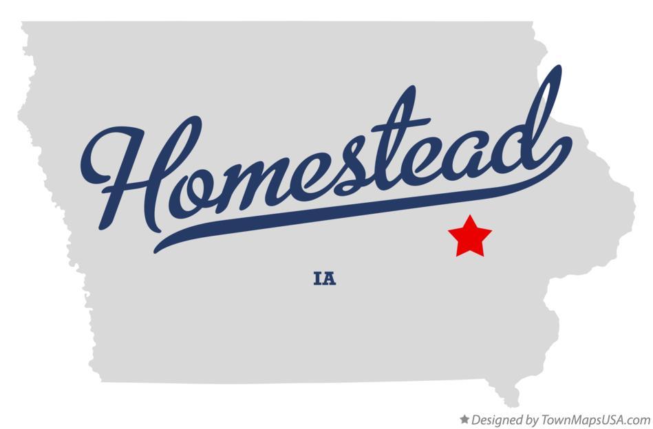 Map of Homestead, IA, Iowa