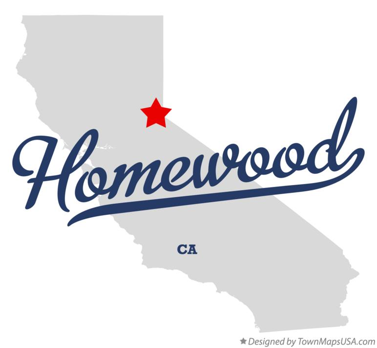 Map of Homewood California CA