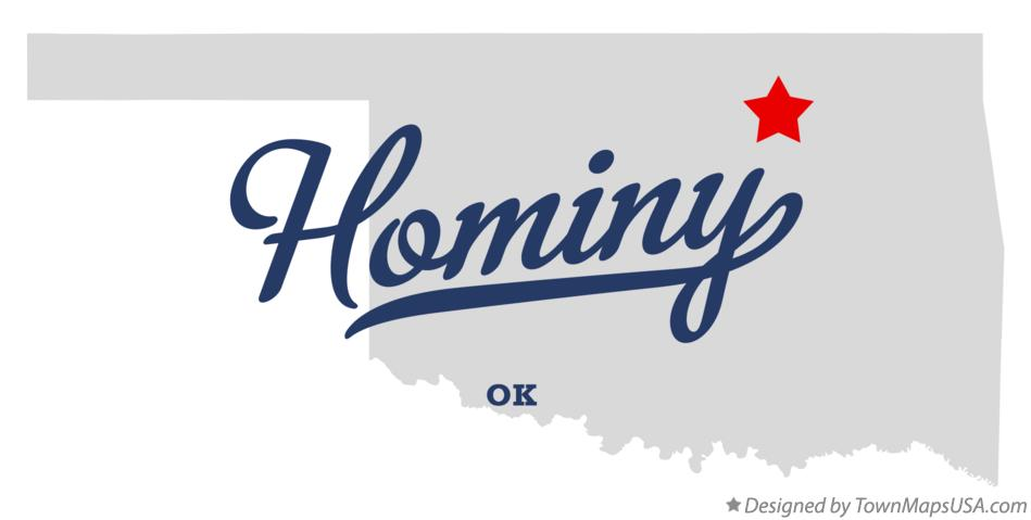 Map of Hominy Oklahoma OK