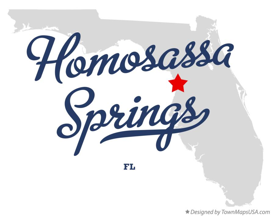 Map of Homosassa Springs Florida FL