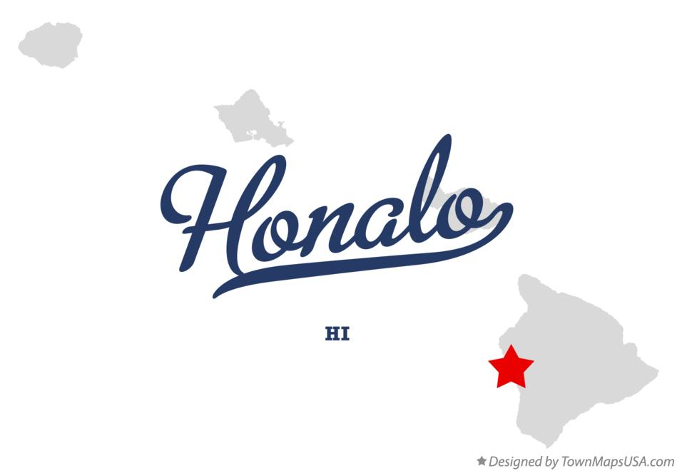 Map of Honalo Hawaii HI