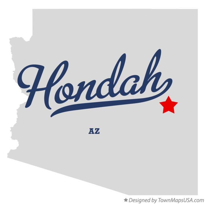 Map of Hondah Arizona AZ