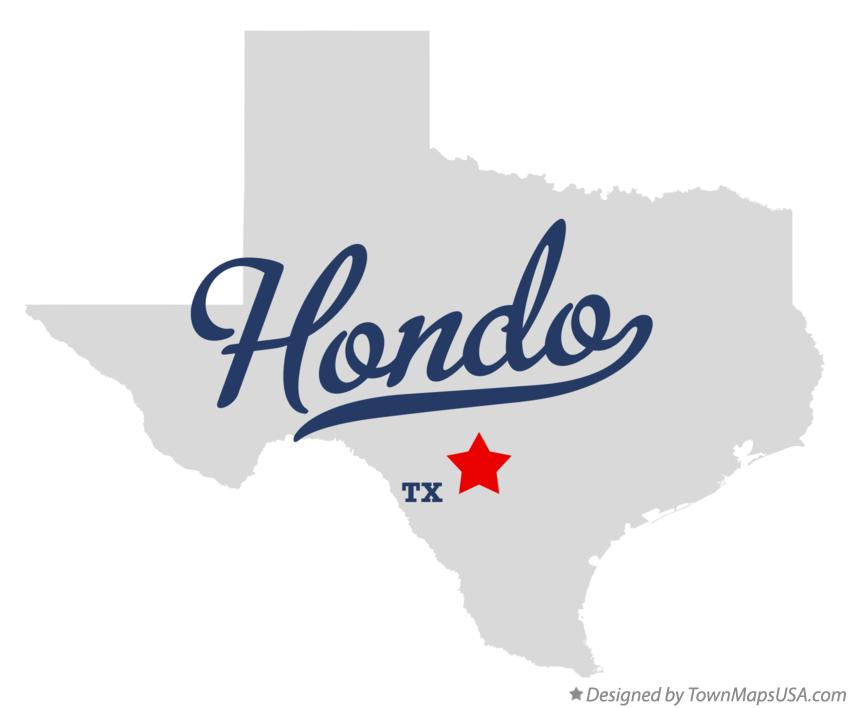 Map of Hondo Texas TX