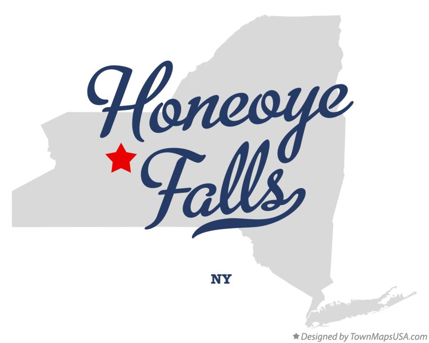 Map of Honeoye Falls New York NY