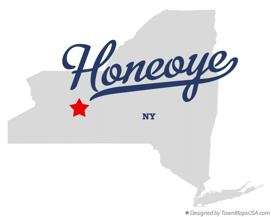 Map of Honeoye New York NY