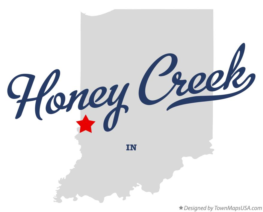 Map of Honey Creek Indiana IN
