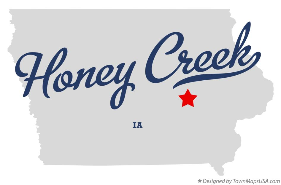 Map of Honey Creek Iowa IA
