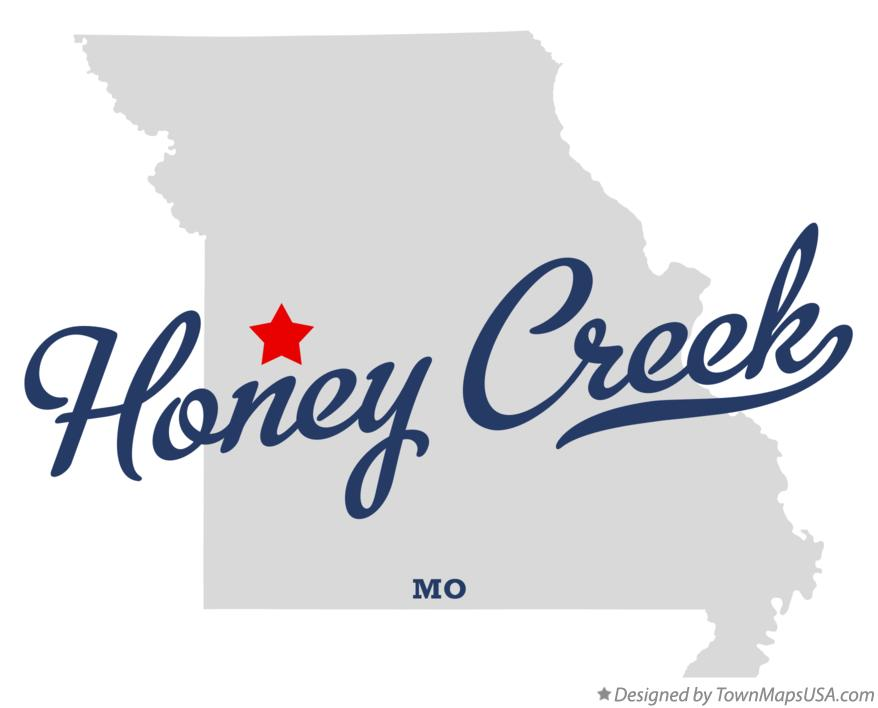 Map of Honey Creek Missouri MO