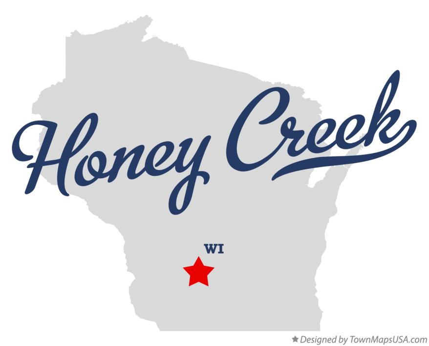 Map of Honey Creek Wisconsin WI