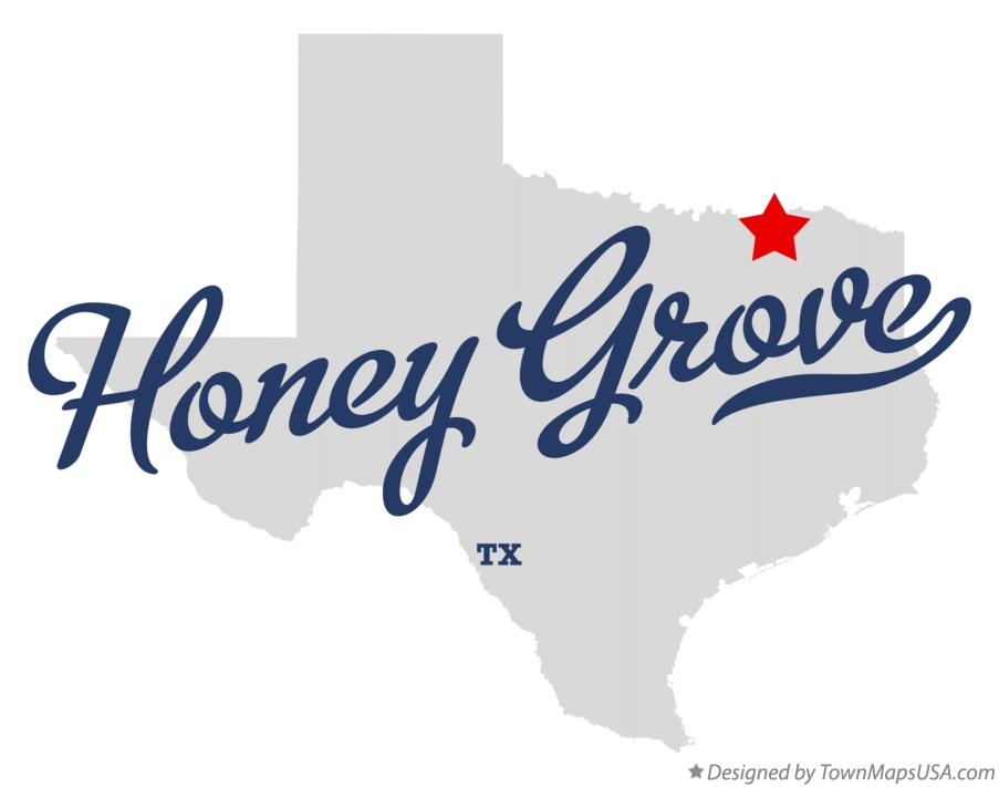 Map of Honey Grove Texas TX