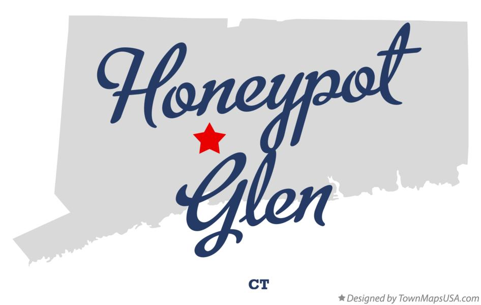 Map of Honeypot Glen Connecticut CT