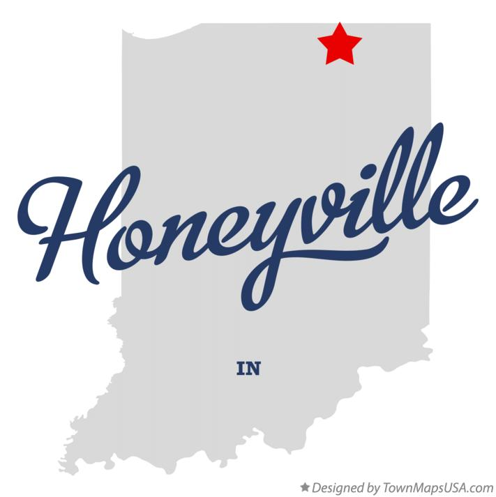 Map of Honeyville Indiana IN