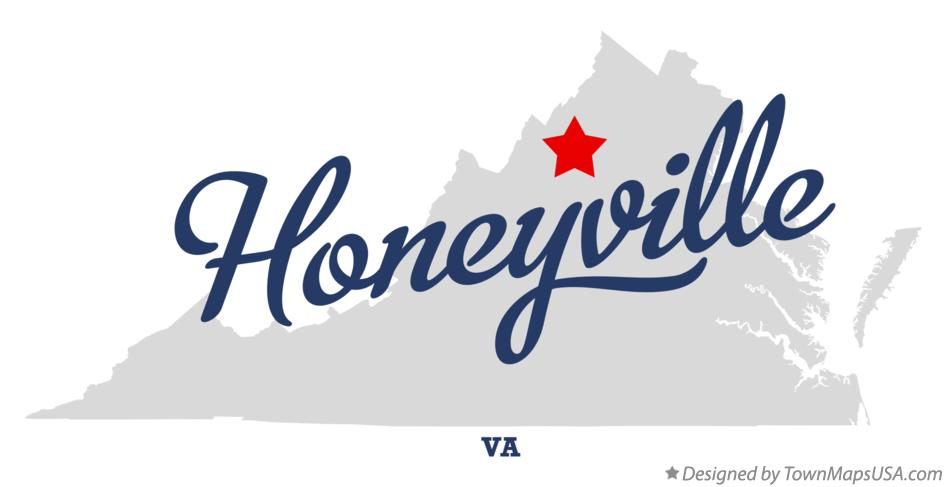 Map of Honeyville Virginia VA
