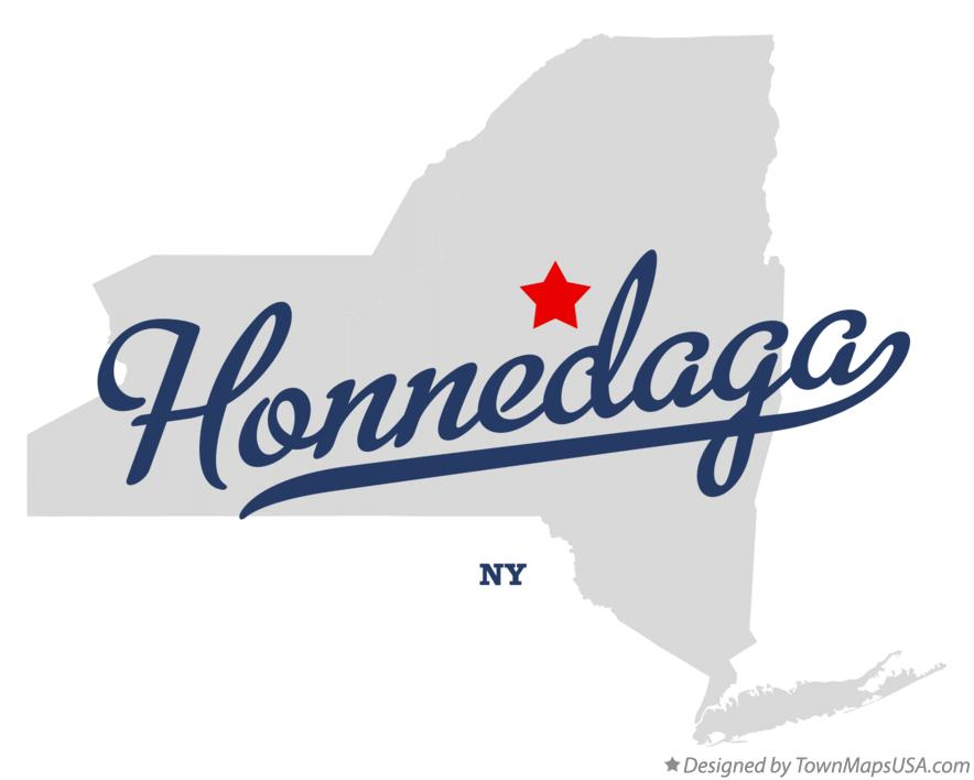 Map of Honnedaga New York NY
